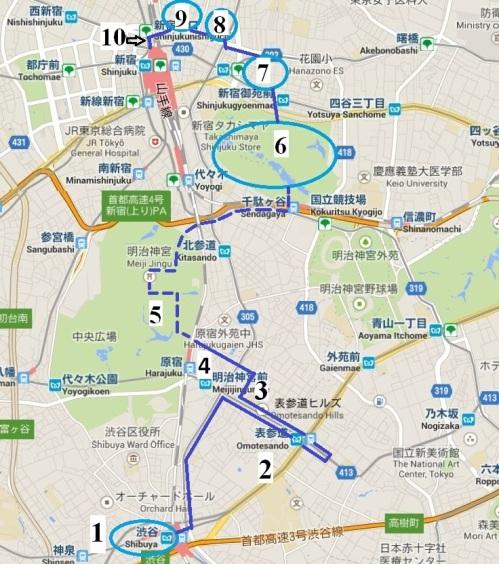 itinéraire Shibuya