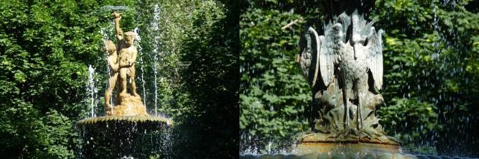 Deux détails de la fontaine.