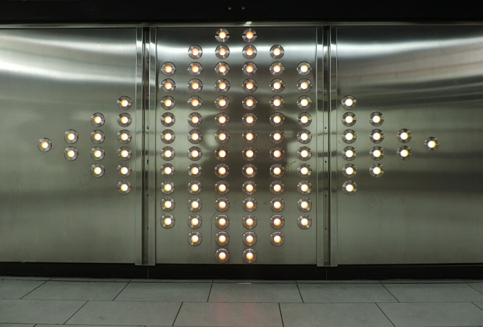 .98: la sculpture lumineuse et animée d'Axel Morganthaler, composée de 98 lumières DEL
