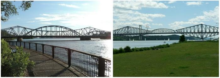 Le pont Lachapelle et le Pont de Québec: séparés à la naissance! ;-)