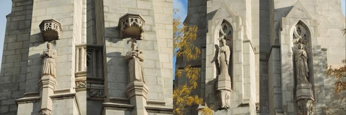 De nombreuses statues parsèment la façade!