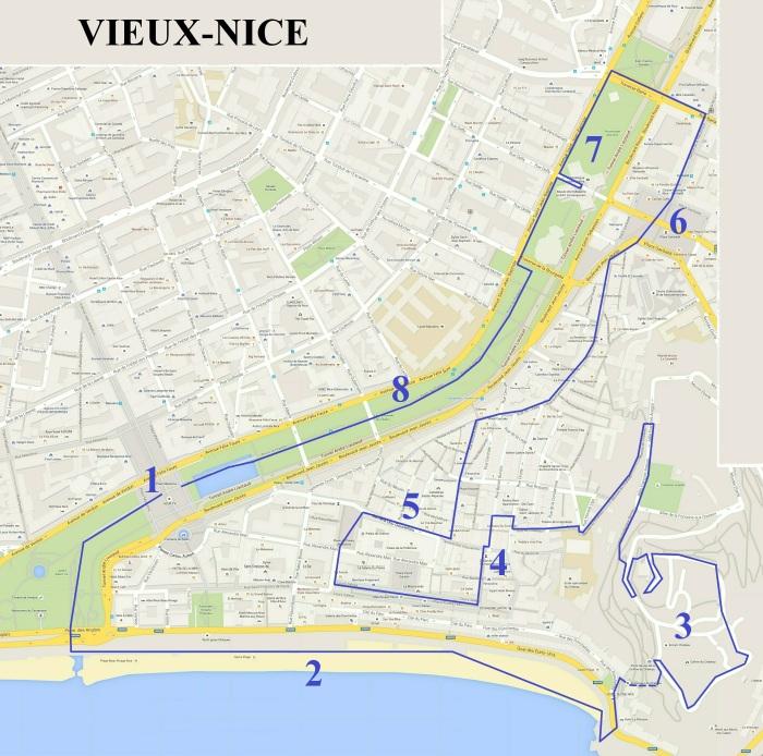 Carte Vieux Nice