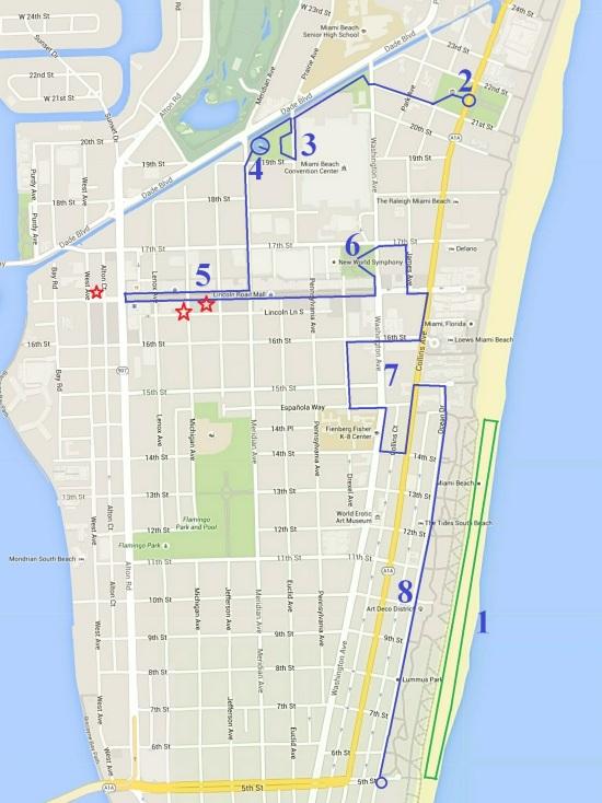 map de South Beach