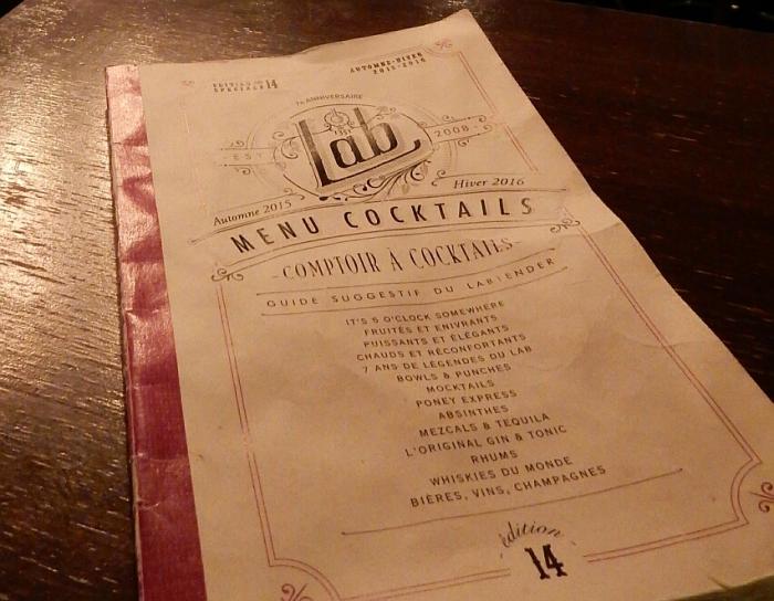 le menu prend la forme d'un petit cahier qui change selon les saisons