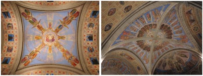 Notre-Dame-de-la-Défense à gauche ( Par Tango7174 — Travail personnel), et Saint-Léon-de-Westmount à droite (ma photo)