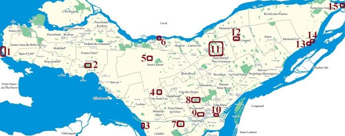map des parcs inusités